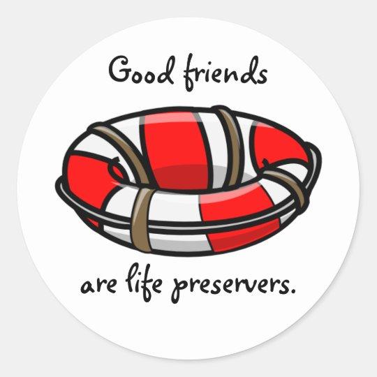 Life Preserver Classic Round Sticker