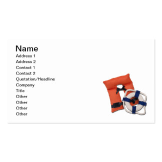 Life Preserver Life Vest Double-Sided Standard Business Cards (Pack Of 100)