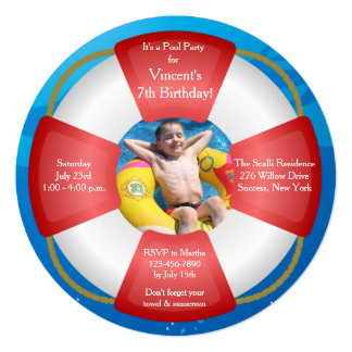 Life Preserver Photo Invitation