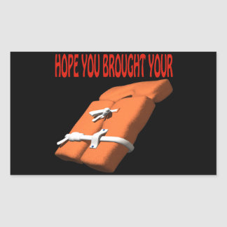 Life Preserver Rectangular Sticker