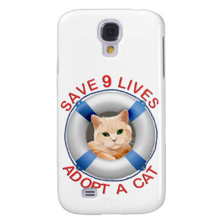 Life Preserver with Cat Adoption Galaxy S4 Case