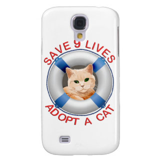 Life Preserver with Cat Adoption Samsung Galaxy S4 Case
