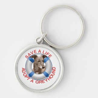Life Preserver with Greyhound Adoption Keychain