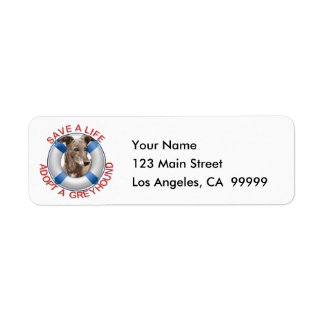 Life Preserver with Greyhound Adoption Return Address Labels