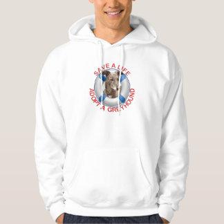 Life Preserver with Greyhound Adoption Sweatshirt