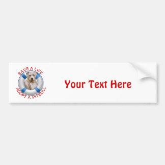 Life Preserver with Pitbull Adoption Bumper Sticker