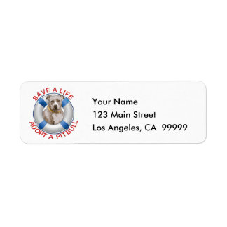 Life Preserver with Pitbull Adoption Label