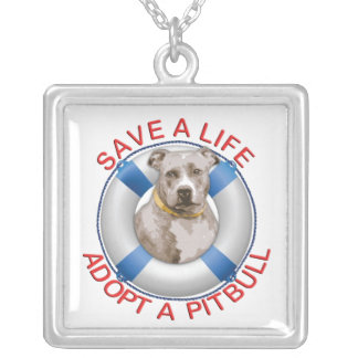 Life Preserver with Pitbull Adoption Necklace