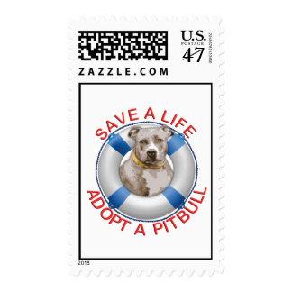 Life Preserver with Pitbull Adoption Postage