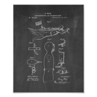 Life Preserving And Swimming Suits Patent - Chalkb Print