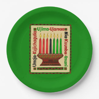 Life Principles Kwanzaa Party Paper Plates