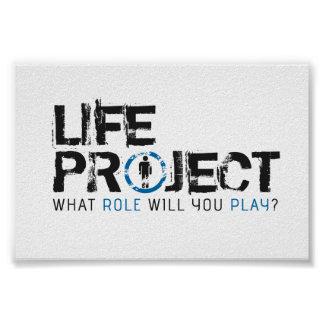 Life Project RPG Logo Poster