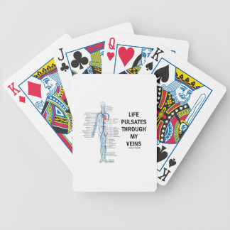 Life Pulsates Through My Veins (Venous System) Bicycle Playing Cards