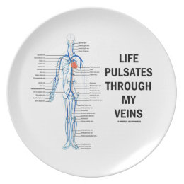 Life Pulsates Through My Veins (Venous System) Dinner Plate