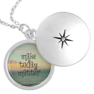 Life Quote Affirmation; Make Today Matter Custom Jewelry