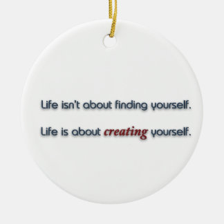 Life Quote by George Bernard Shaw Ceramic Ornament