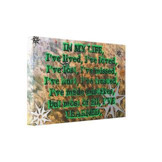 Life Quote Canvas Print