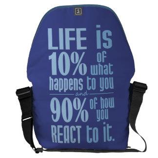 LIFE QUOTE custom messenger bags Messenger Bags
