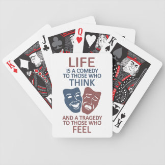 LIFE quote custom playing cards