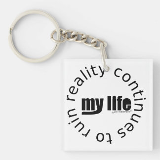 Life Quote Double-Sided Square Acrylic Keychain