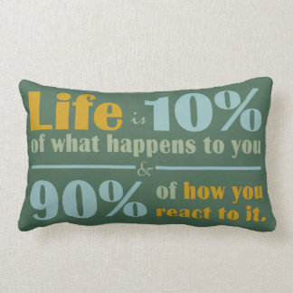 LIFE QUOTE throw pillow