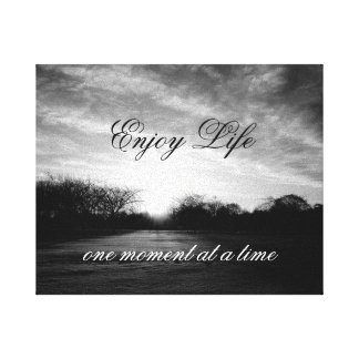 Life Quote Wall Stretched Canvas Print