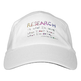 Life Quote White Ball Cap- Research is what I'm .. Hat
