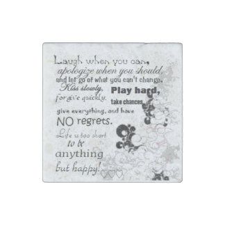 life quotes stone magnet