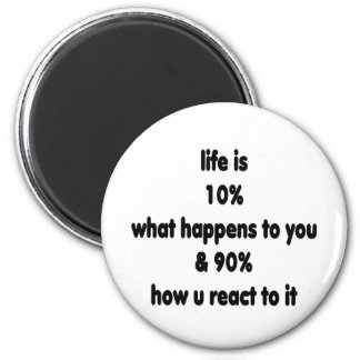 Life reaction 2 inch round magnet