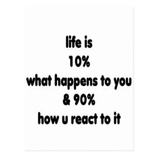 Life reaction postcard