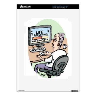 Life Remaining Cartoon Decal For The iPad 2