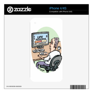 Life Remaining Cartoon Decals For The iPhone 4S