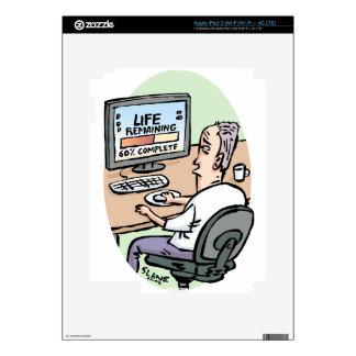 Life Remaining Cartoon iPad 3 Decals