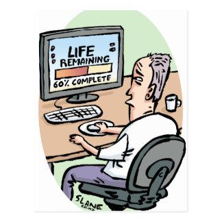 Life Remaining Cartoon Postcard