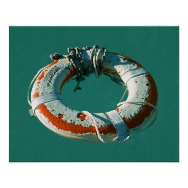 Beach Themed Life Ring Art Photograph Poster