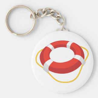 Life Ring Basic Round Button Keychain