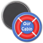 Life Ring Bright Stateroom Door Marker 3 Inch Round Magnet