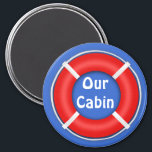 """Life Ring Bright Stateroom Door Marker Magnet<br><div class=""""desc"""">Bright orange and blue Life Ring Cruise Ship Cabin Door Marker will help you find your cabin door in that long row of look alike doors on your cruise ship.      Give one to your favorite cruiser for a fun little Bon Voyage gift.</div>"""