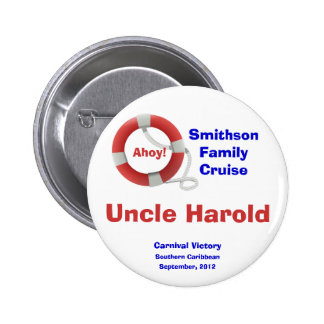 Life Ring Cruise Name Badge Pins