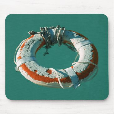 Beach Themed Life Ring Mouse Pad