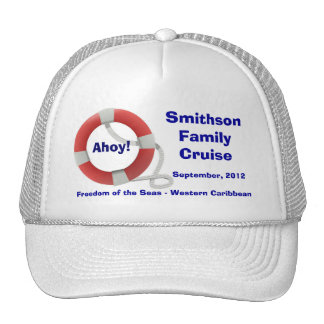 Life Ring Personalized Cruise Cap Trucker Hats