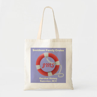 Life Ring Personalized Lt. Tote Bag