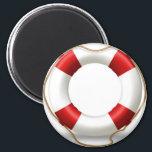 "Life Ring Preserver Magnet<br><div class=""desc"">Magnet Template</div>"