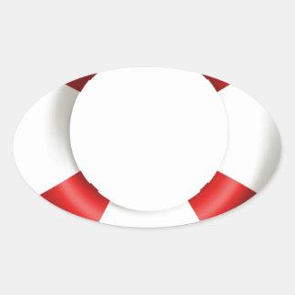 Life Ring Preserver Oval Sticker