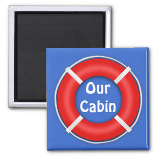 Life Ring Stateroom  Door Marker 2 Inch Square Magnet