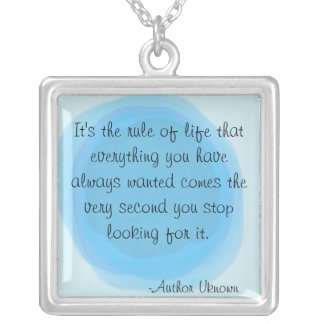 """LIFE RULES"" SILVER PLATED NECKLACE"