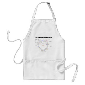 Life Runs On Its Own Cycle (Krebs Cycle - TCAC) Adult Apron