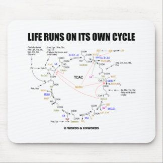 Life Runs On Its Own Cycle (Krebs Cycle - TCAC) Mouse Pad