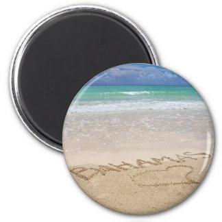 Life's a beach 2 inch round magnet