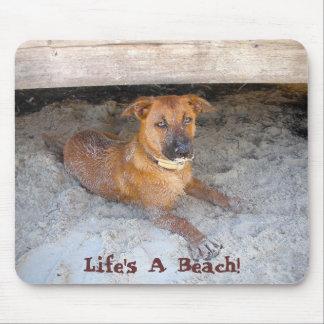 Life s A Beach Dog Lover s Mousepad